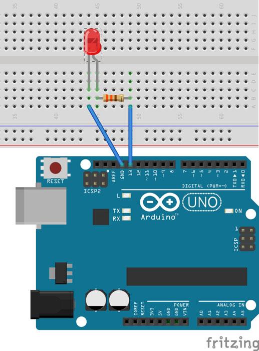 Basic Led Blinking W   Arduino